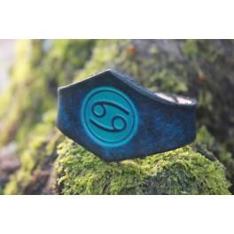 """Bracelet """"ferne"""" gravé des signes du Zodiaque"""