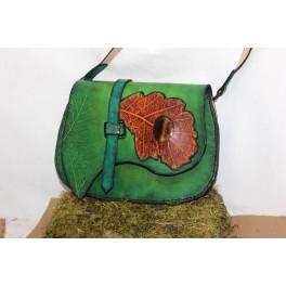 """""""Gemstone leaf"""", sac d'épaule en cuir à bandoulière réglable"""