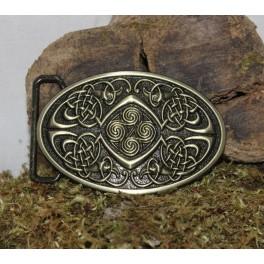 Boucle celtique pour ceinture en cuir, interchangeable de 4cm
