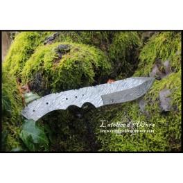 Damascus steel blank blade