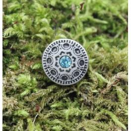 Gemstone shield, 15mm concho