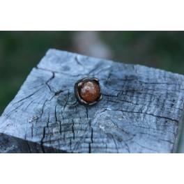 Ambre, rivet décoratif 12x12mm