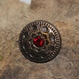 Gemstone shield, 25mm concho
