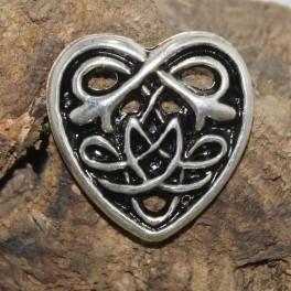 Coeur celtique, rivet décoratif 32x32mm
