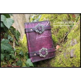 Book-cover leaf and buckles