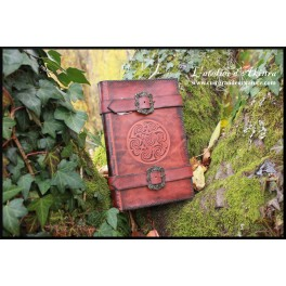 Book-cover with 90 mm embossing and buckles