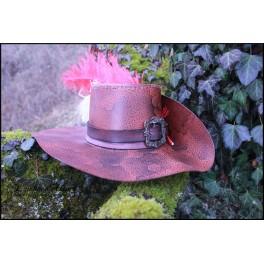 Chapeau mousquetaire gaufré