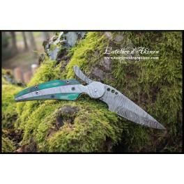 Couteau pliant en acier damas modèle 01