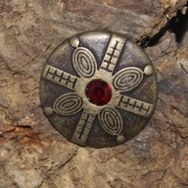 Bouclier à la pierre, modèle 2, rivet décoratif 25mm
