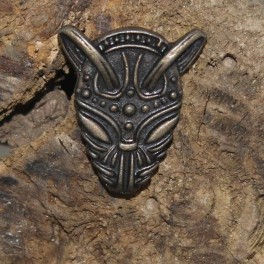 Masque viking, rivet décoratif 29x24mm
