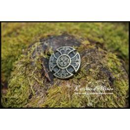 Petite croix celtique, rivet décoratif 22x22mm